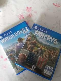 PS4 Far Cry 5 & Watch Dogs 2