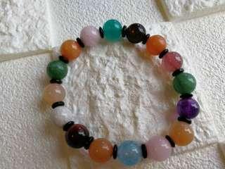 👑天然彩虹多寶水晶手鏈手珠手串 ✨珠子10mm    👑Natural Crystal 10mm Bracelet