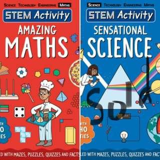[BN] 2 STEM ACTIVITY books: SENSATIONAL SCIENCE! & AMAZING MATHS
