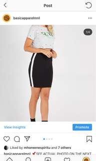 SUPRE HW BODYCON DRESS W/ SIDE LINE