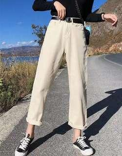 Cream-coloured pants