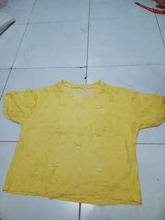 BLOUSE TSHIRT YELLOW