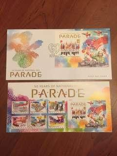 🚚 FDC with Miniature Sheet • National Day Parade 2016