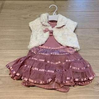 全新BB女裙仔set (0-3 month)