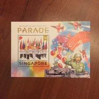 🚚 Miniature sheet • 50 years of National Day Parade 2016