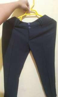 Celana kain bahan kantoran navy biru donker