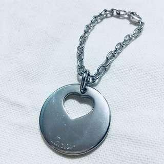 Cartier Bag Charm Heart Round Silver