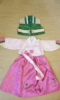 1-2歲 韓國傳統服裝 女宮廷禮服