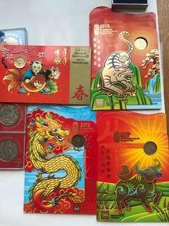 Singapore Uncirculated Coin Set Hongpao Pack