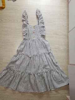 🚚 Brand new long pin stripes dress