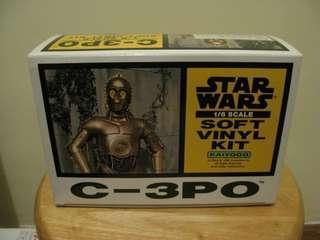 星球大戰 絕版 1/6 C-3PO 空心膠手辦模型
