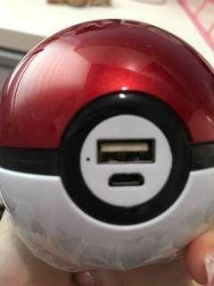 Pokémon ball red white power bank