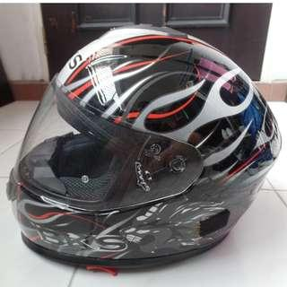 64ef36ca Used good condition BKS Full face helmet with built-in sun visor. Sold