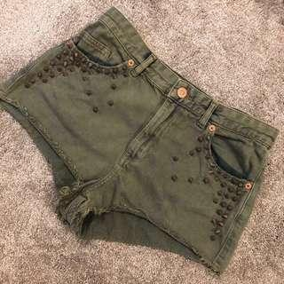 Topshop shorts spiked