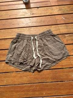 Ghanda khaki pool shorts