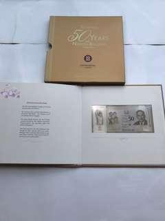 SG50 numismatic limited edition $50 single note set