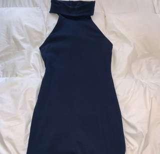 Kookai Navy Turtleneck Dress