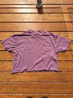 Cotton on high neck cropped tee. Brand new