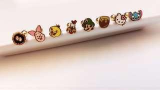 🚚 小豬/路奇 西德鋼 耳環⭕️兩隻一組