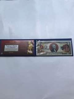 Genuine limited edition $2 US Tiger note set