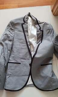 🚚 Topman blazer jacket grey black