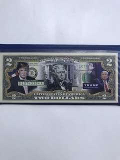 Donald Trump US dollar note limited edition set