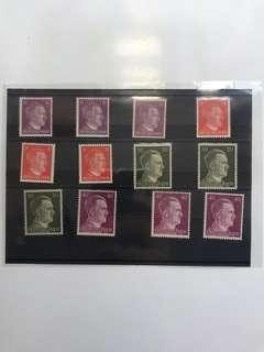 🚚 HITLER NAZI STAMPS mint uncirculated condition