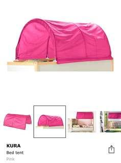 Ikea Kura bed tend - pink