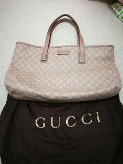 大號Gucci PVC粉紅色單肩袋