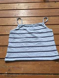 Grey Cotton On striped singlet top