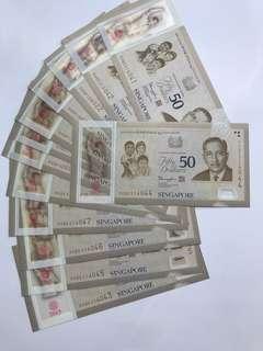 SG50 $50 Note Set