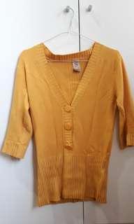 Mustard Top. Baju kuning bahan nyaman