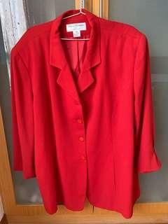 Plus Size Red Jacket 24W