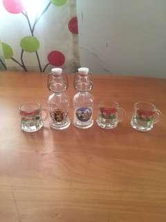 Mini cup & bottle from Europe (set)
