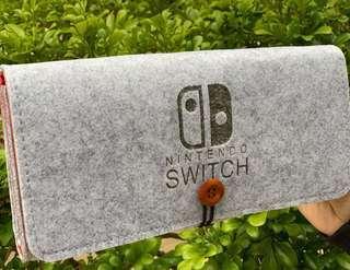 淺灰紅 雙層 Switch 保護套 保護殼 Nintendo NDS 任天堂 手提袋 收納袋 收納包 保護包 機袋 機套 機殼 防震 遊戲 手制 protector case cover 熱賣爆款 實物拍攝