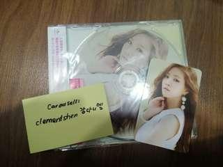 A pink LUV Japanese Single Album with Naeun CD + Photocard