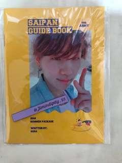 BTS Suga Sunmer package 2018 guidebook