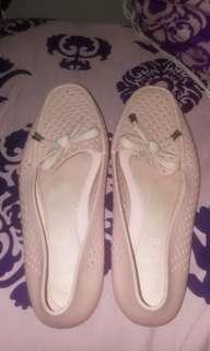 FREEONG JABODETABEK~Flatshoes jelly warna peach