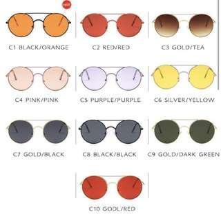 Kacamata - Korean Design Bulat Metal