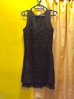 黑色背心裙one piece dress