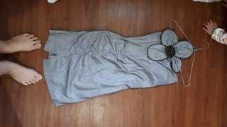 Dress grey abuabu sexy minidress pesta