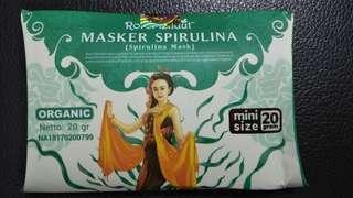 Roro mendut masker spirulina