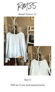 Forever 21 Flare Sleeve Top