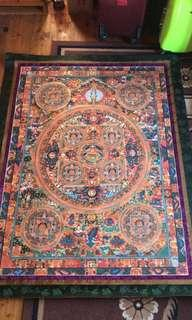 Oversize thangka painted by a very famous Bhutan artist