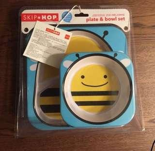 Skip Hop 餐具 碗 蜜蜂 bee blw