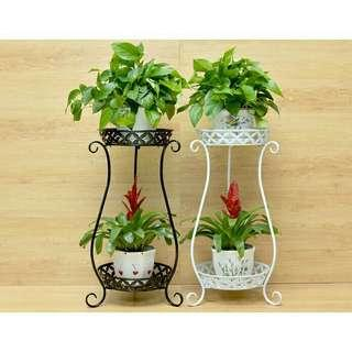 European flowers pot rack 2 tiers
