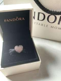 Pandora Charm - Pink Pave Open My Heart