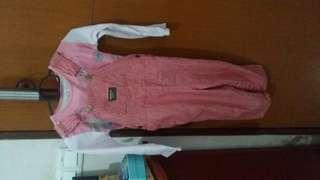 Authentic Oshkosh overall (4y)free gap top