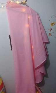 Khimar pink satu layer