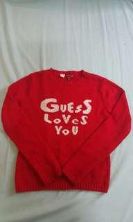 (Authentic) Guess Loves You Red Knitted Sweater